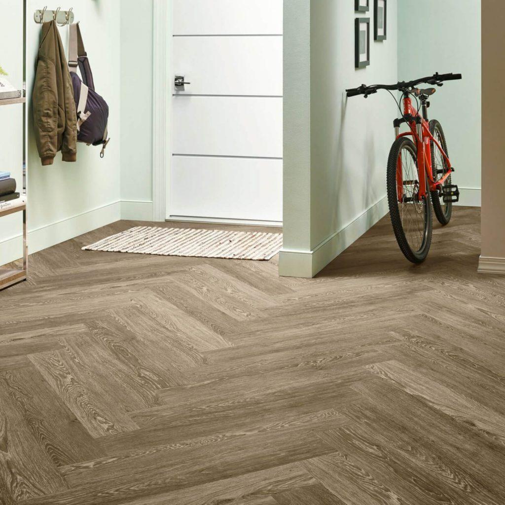 Bicycle on flooring