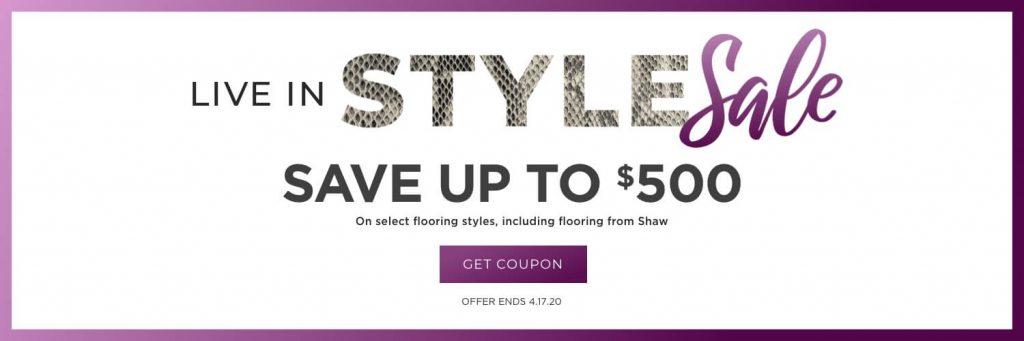 Live in Style Sale | McCool's Flooring