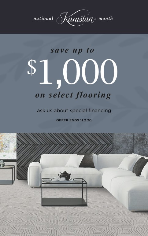 save up to $1000 on select flooring