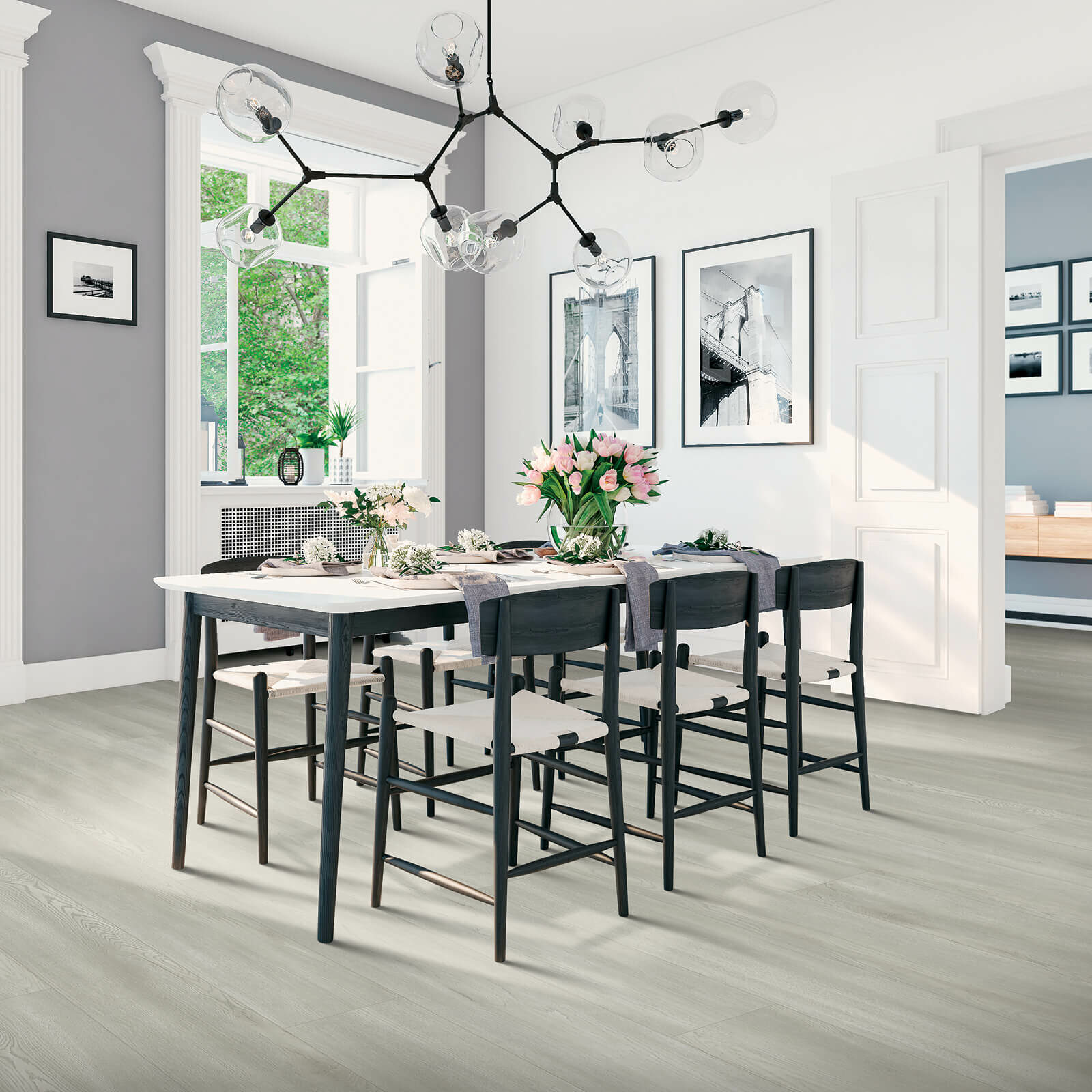 Laminate flooring of dining room | McCool's Flooring